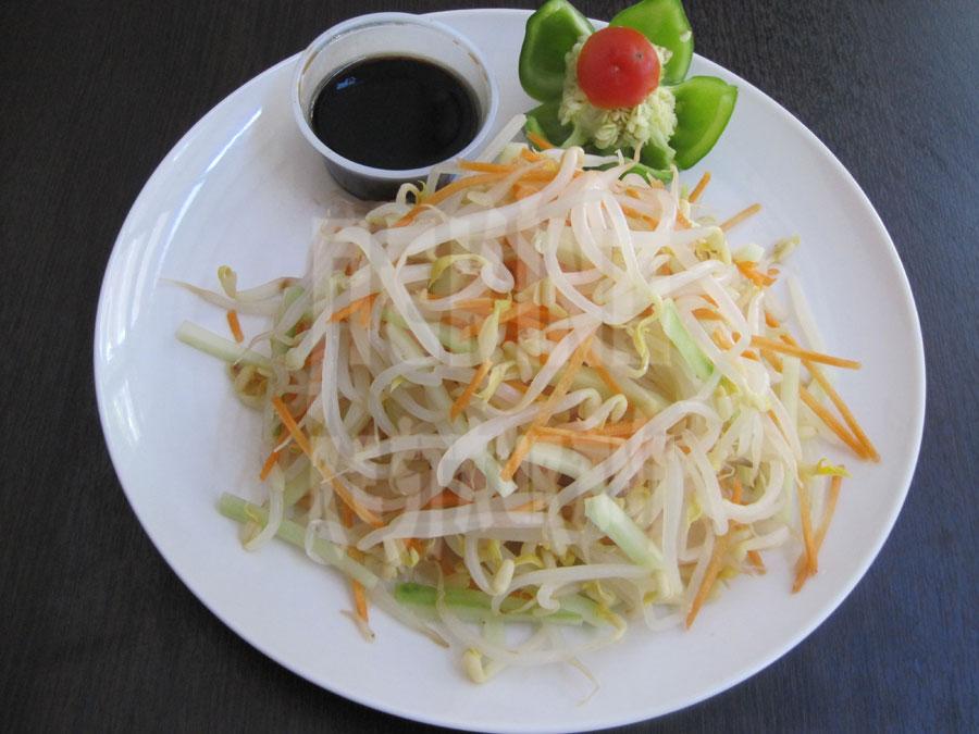 Σαλάτα με φύτρες φασολιών