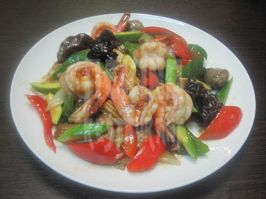 Γαρίδες με λαχανικά